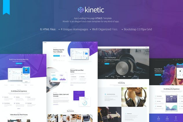 Kinetic - App Landing Page