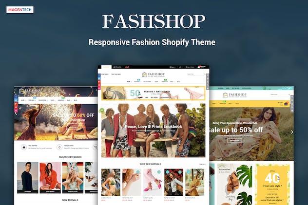FashShop - Drag & Drop Bootstrap 4 Shopify Theme - product preview 3