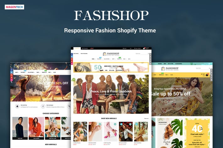 Thumbnail for FashShop - Drag & Drop Bootstrap 4 Shopify Tema