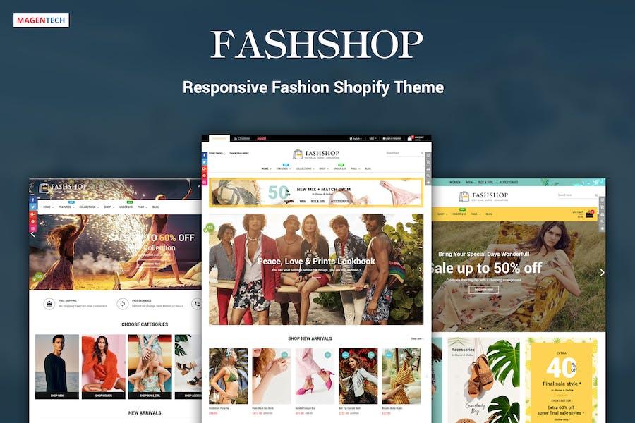 FashShop - Drag & Drop Bootstrap 4 Shopify Theme