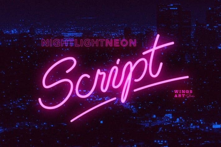 Thumbnail for Police néon rétro - Style de script