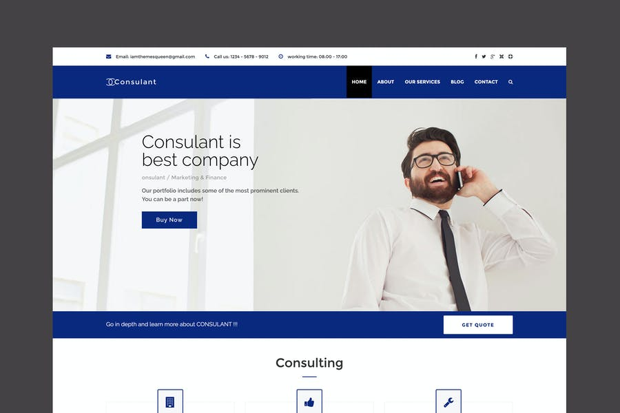 Консульант - Корпоративный и Бизнес Joomla Шаблон
