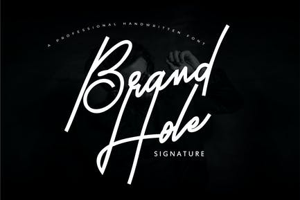 Brand Hole | Handwritten Signature Font