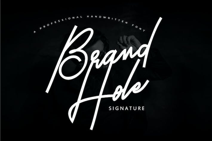 Thumbnail for Brand Hole | Handwritten Signature Font