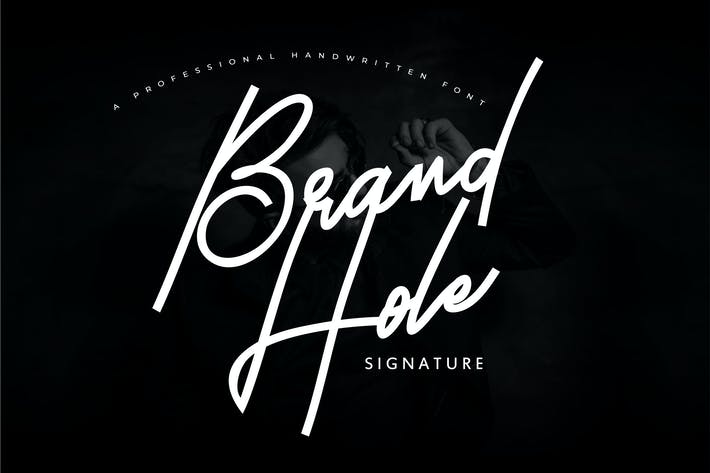 Thumbnail for Hole de marca | Fuente de firma manuscrita