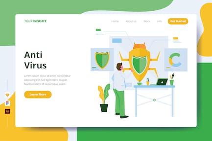 Anti Virus - Landing Page