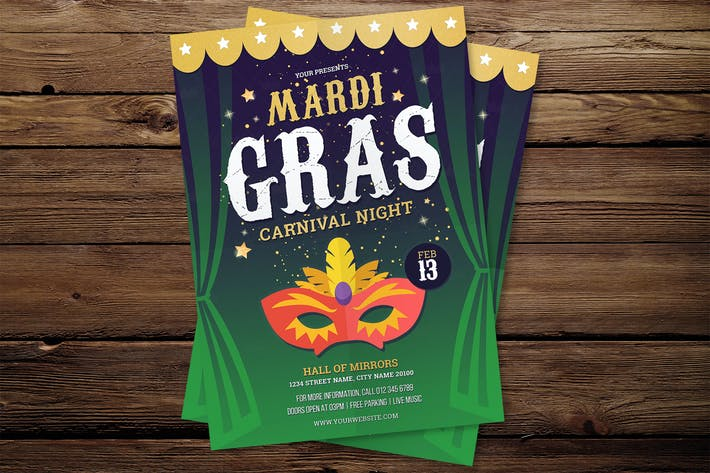Cover Image For Mardi Gras Flyer