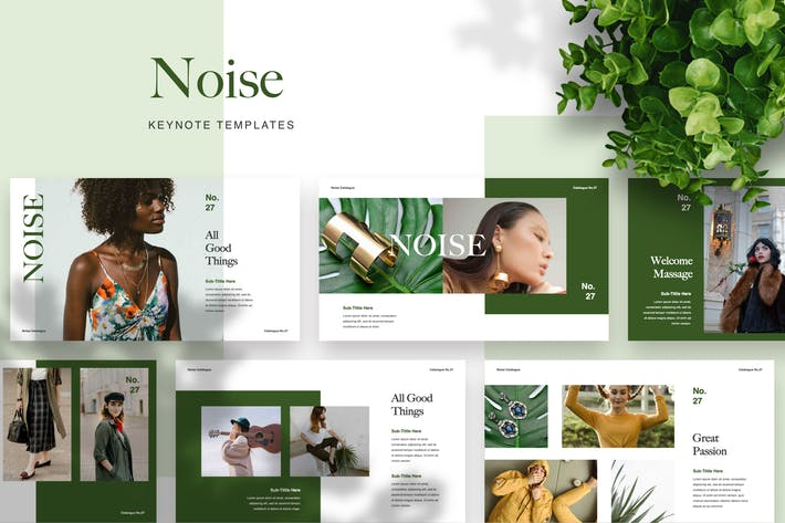 Thumbnail for Noise Keynote Templates
