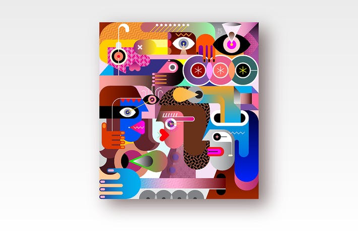 Thumbnail for Abstrakte Kunst Porträt
