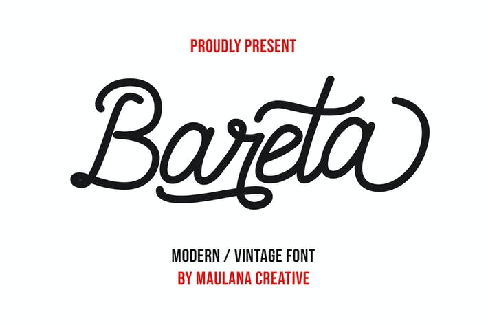 Thumbnail for Bareta Vintage Modern Font