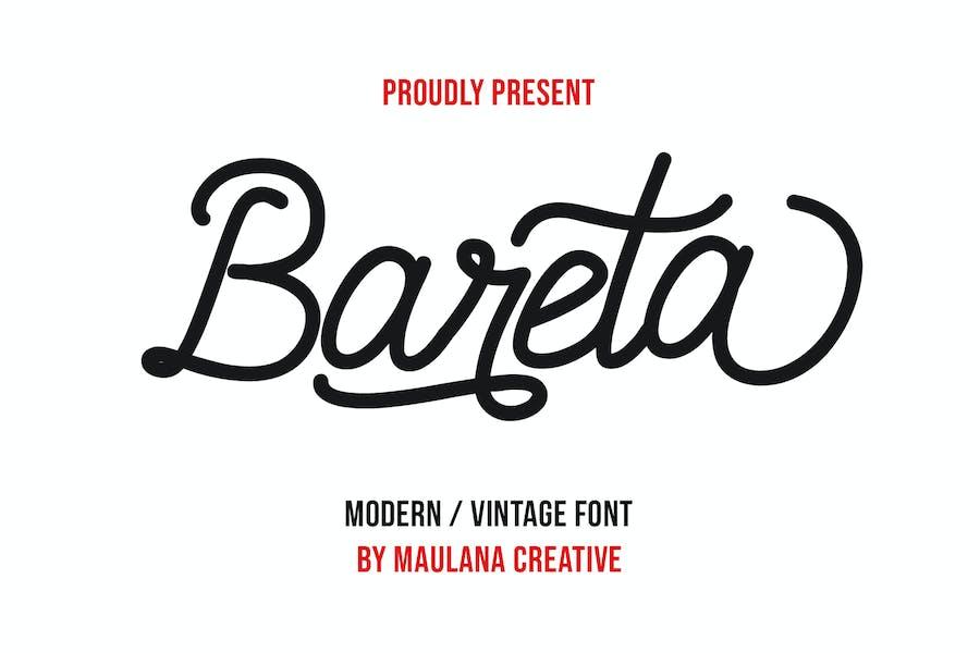 Bareta Vintage Modern Font