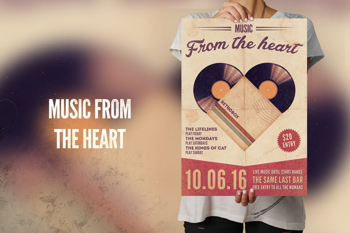 Thumbnail for Music From The Heart Flyer Poster