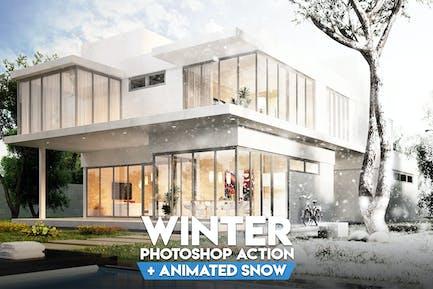 Winter Photoshop Action