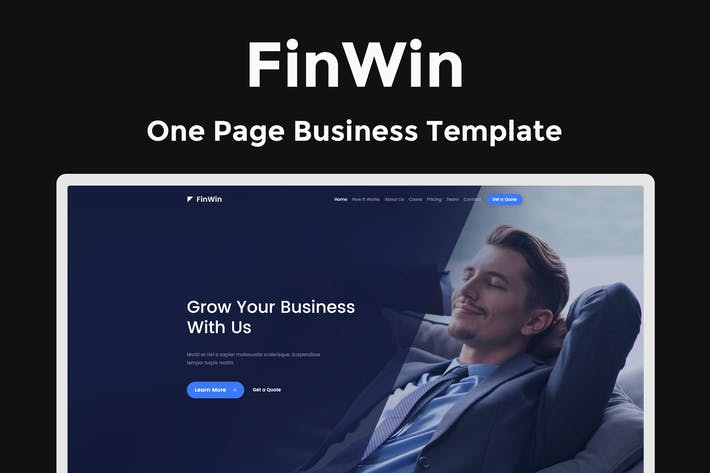 Thumbnail for FinWin - One Page Business Finance Template