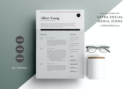 Resume Template 3 Page | CV Template | INDD + DOCX