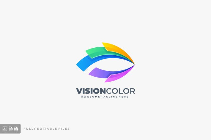 Thumbnail for Vision Eye Color Gradient Logo template