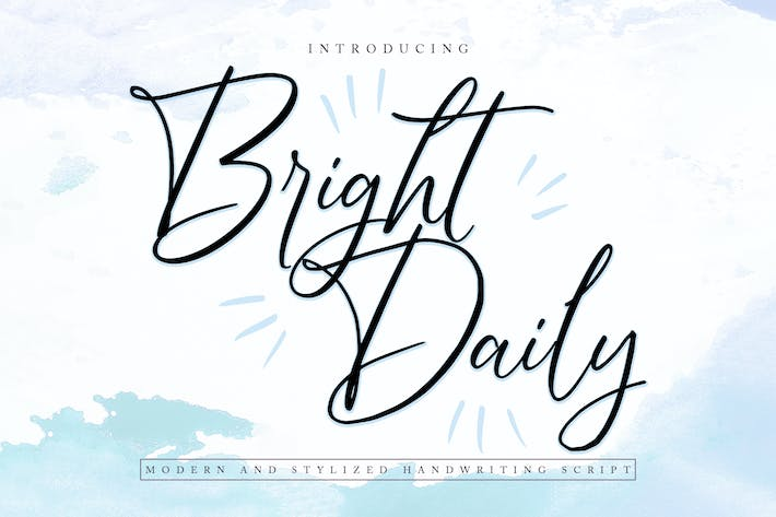Thumbnail for BrightDaily | Modern & Stylized Handwriting Script