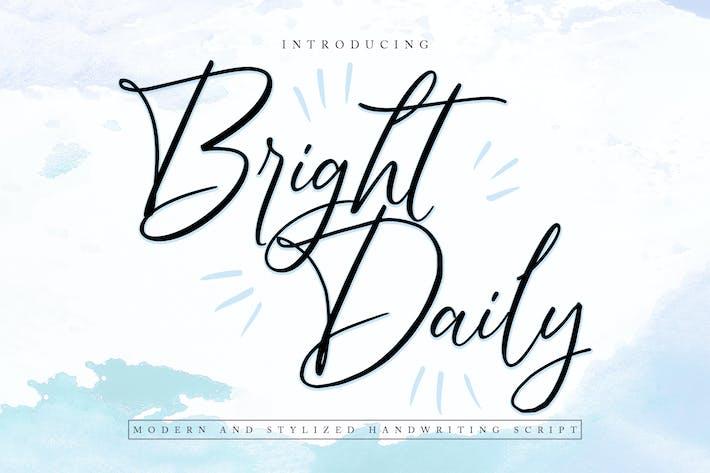 BrightDaily | Современный и стилизованный сценарий почерка