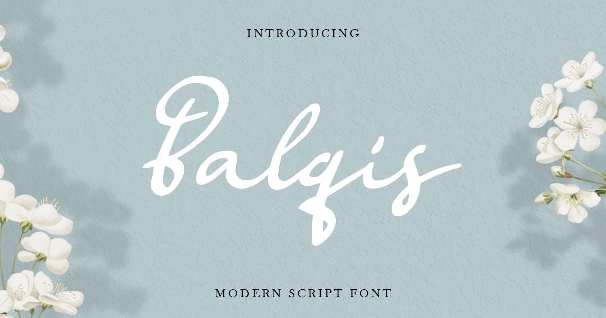 Download Balqis - Handwritten Siganture Modern Script Font by HamzStudio