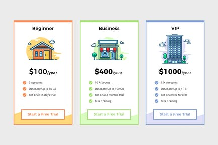 Pricing Table Vol.2