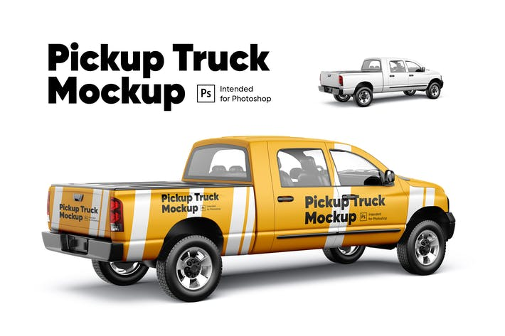 Thumbnail for Pickup Truck Mockup 02