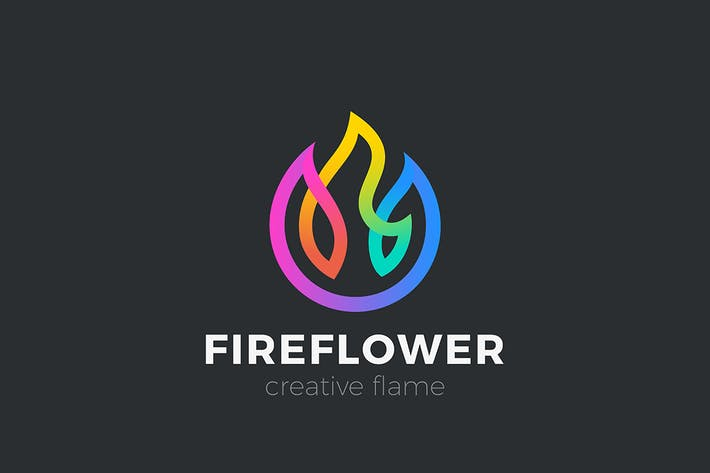 Thumbnail for Flower Logo Fire Flame Colorful Design abstract