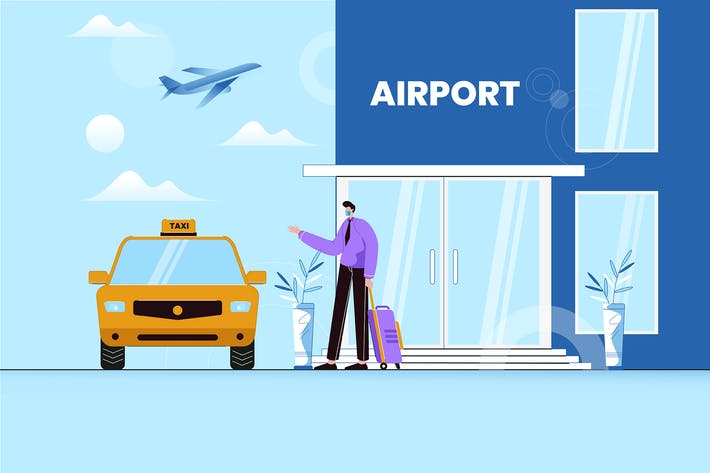 Thumbnail for Businessman Hailing a Cab at The Airport