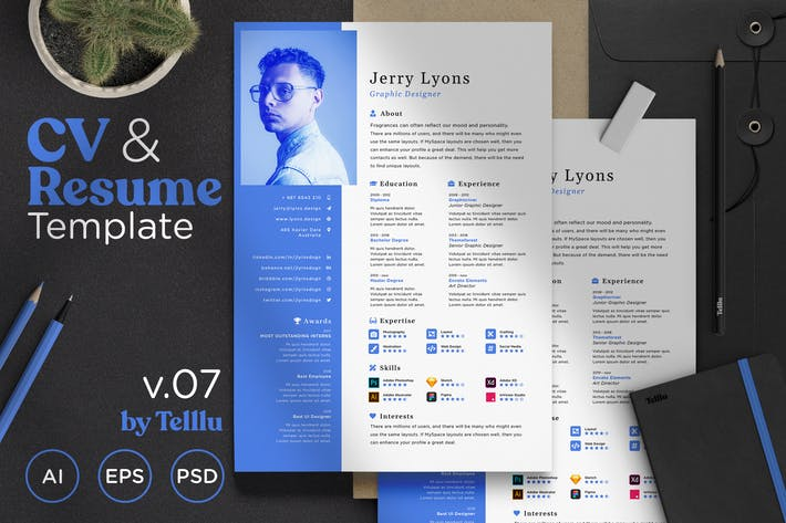 Thumbnail for Resume CV v.07 Simple Minimalist