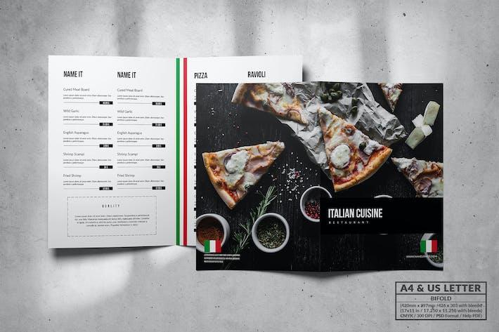 Thumbnail for Italian Elegant Food Menu Design A4 & US Letter