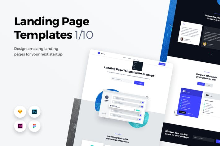Thumbnail for Landing Page Templates - Web UI Kit - 1