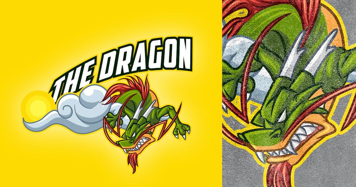 Download Cartoon Chinese Dragon On Cloud Logo by Suhandi