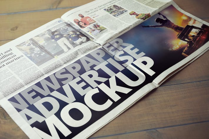 Thumbnail for Newspaper Advertise Mockup v2