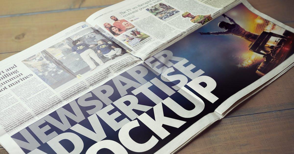 Download Newspaper Advertise Mockup v2 by 2dsight