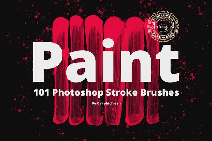 Cover Image For 101 Photoshop Paint Stroke Brushes