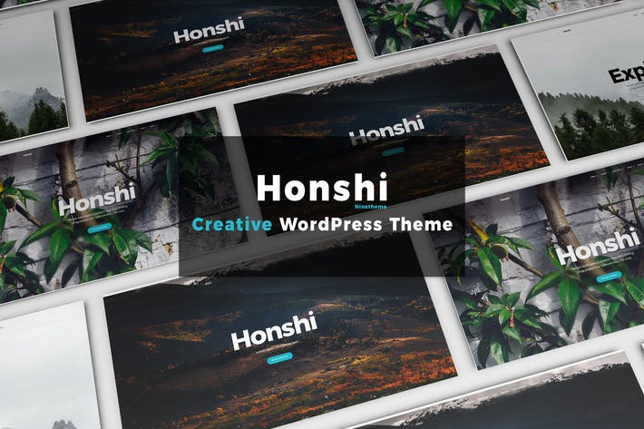 Thumbnail for Honshi - WordPress Simple Portfolio Theme