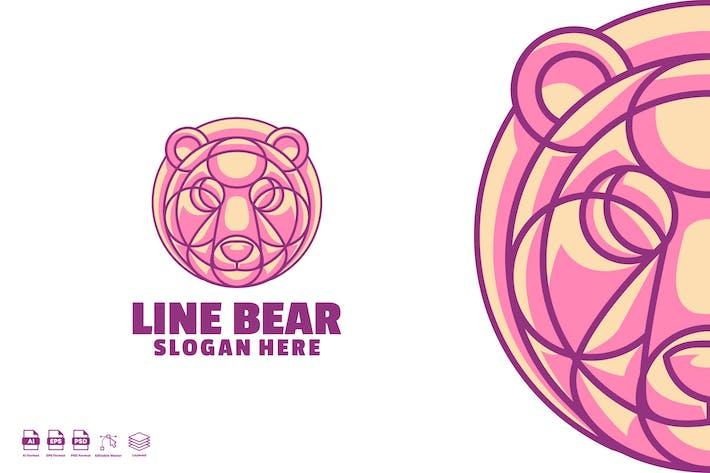 Thumbnail for Line bear logo template
