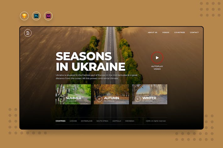 Thumbnail for DailyUI.V3 Video Landing Website UI