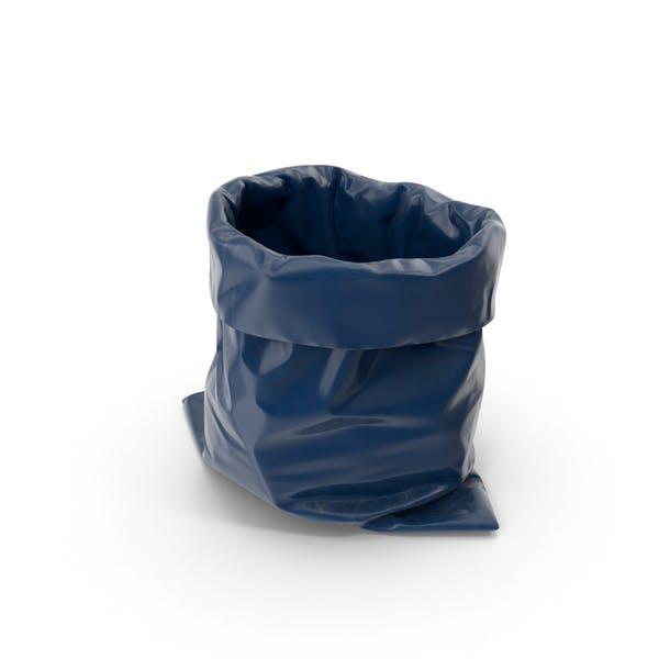 Синий мешок для мусора