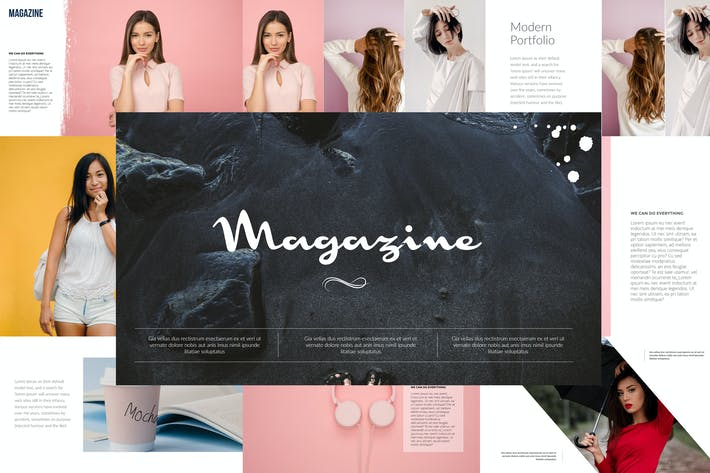 Thumbnail for Magazine Powerpoint Template