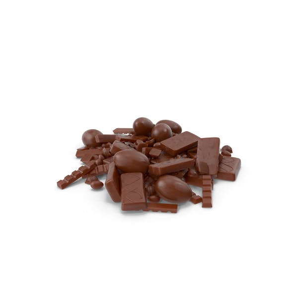 Pile of Assorted Chocolate Candies