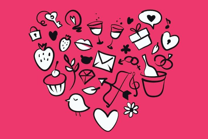 Романтика Doodles