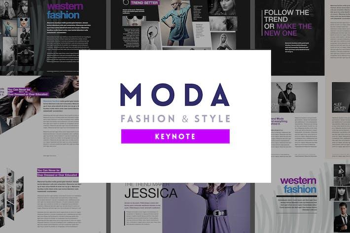 Thumbnail for Moda - Fashion & Design Keynote Template