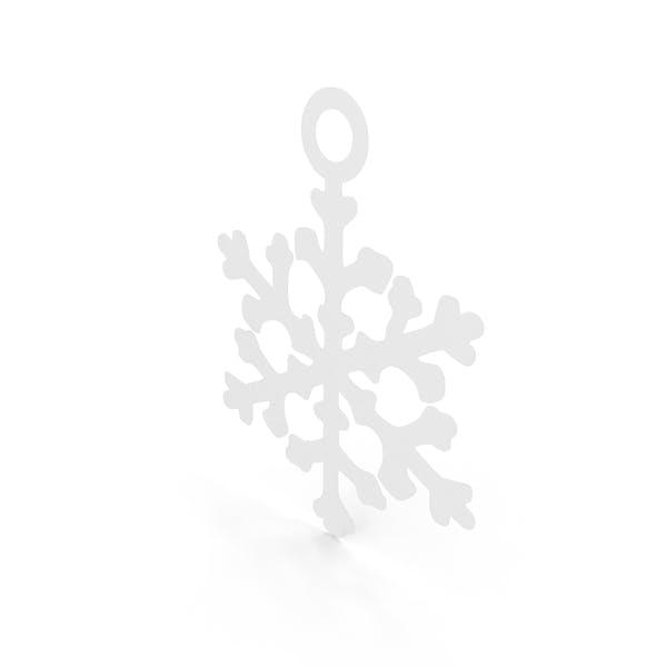 Украшение снежинки