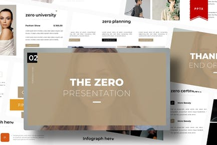The Zero   Powerpoint Template