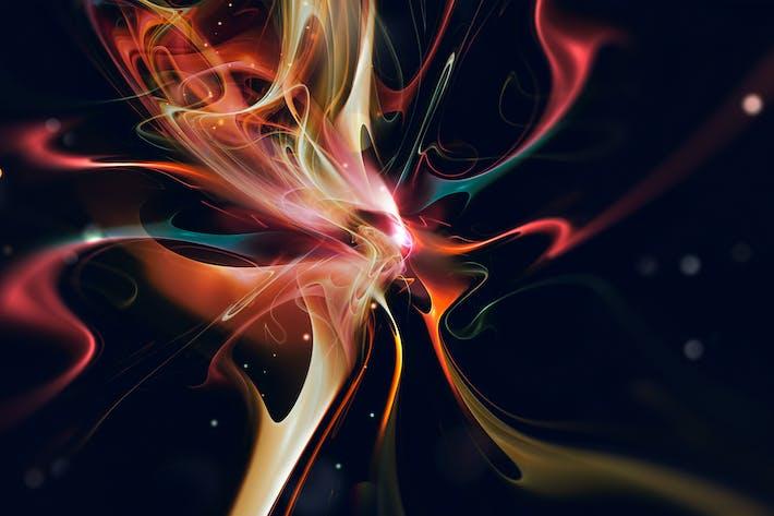 Llamarada brillante de líneas multicolores