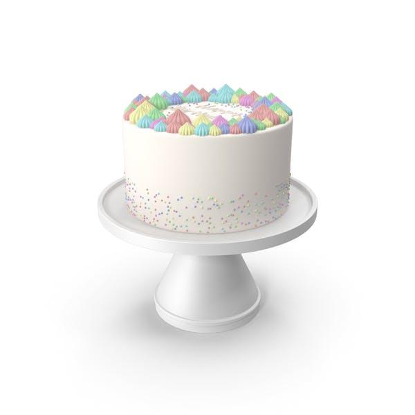 Цветной торт