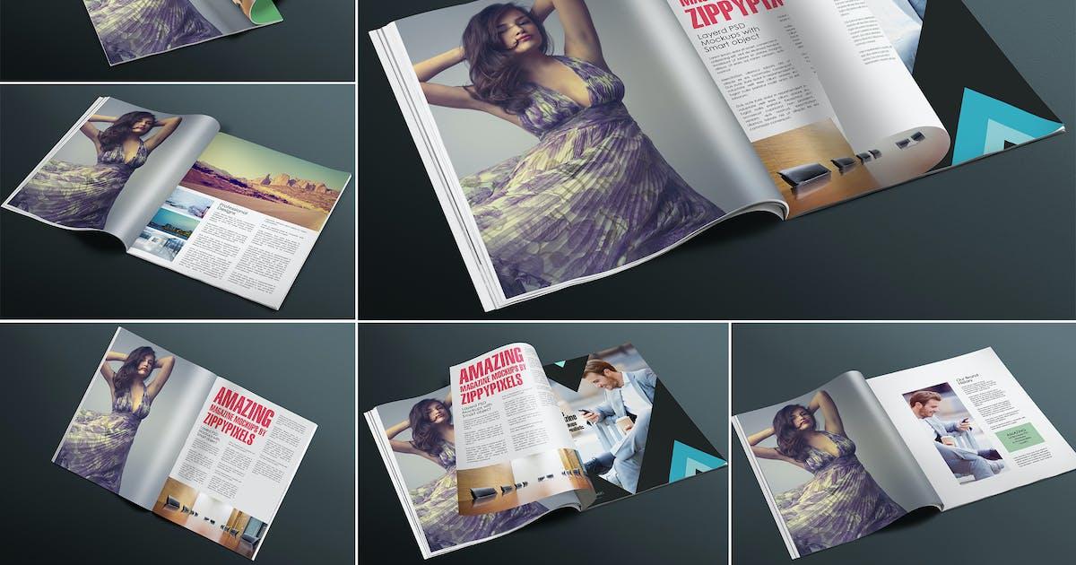 Appealing Magazine Mockups by zippypixels
