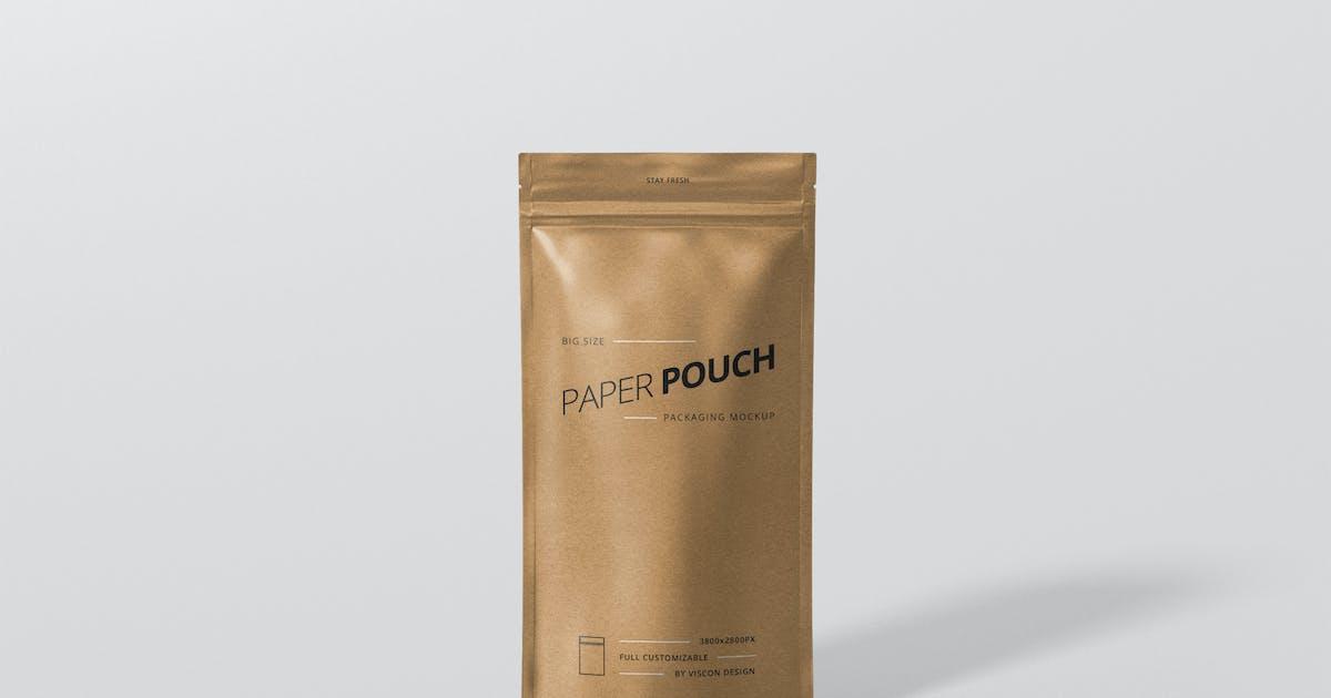 Download Paper Pouch Bag Mockup Big Size by visconbiz