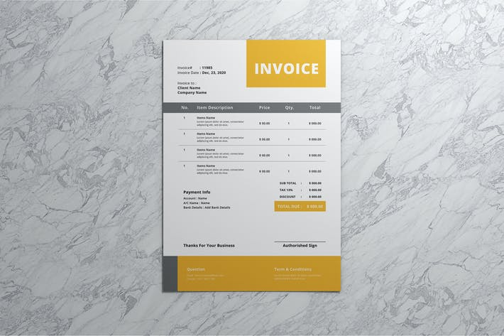 Thumbnail for Invoice Template Vol 1