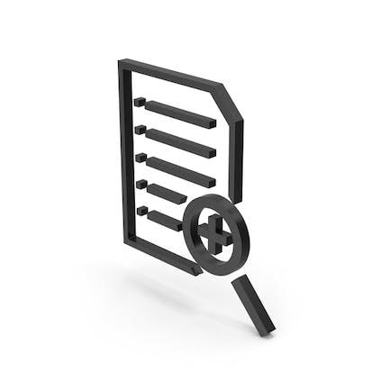 Symbol Document File Zoom Black